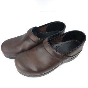DANSKO professional brown distressed leather